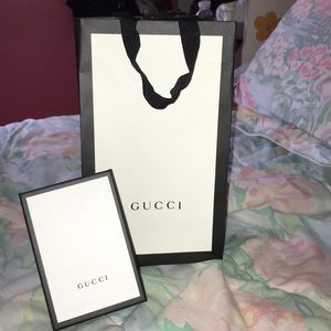 Gucci Other - Gucci paper shopping bag and wallet box